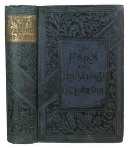 1885 FARM & HOME GUIDE Antique COOKBOOK Rural Architecture HORSE Bees TOOLS Old