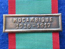 PORTUGAL PORTUGUESE MILITARY MOZAMBIQUE 1916-1917 BAR BRONZE MEDAL CAMPAIGNS WWI