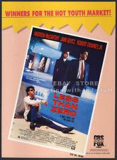 LESS THAN ZERO__Orig. 1988 Trade print AD __ROBERT DOWNEY JR.__ANDREW McCARTHY
