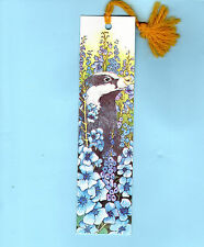 Badger Blue Bellflower Flowers Bookmark Xmas Birthday Gifts Mum Wife Her Grandma