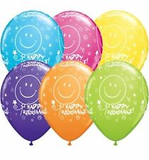 "25 x 11"" Happy Retirement Assorted Colours Latex Balloons Ideal Party Decoration"