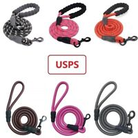 5FT Dog Leash Lead Rope with Reflective Threads Padded Handle for Large Dogs
