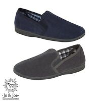 Mens Comfy Warm Cosy Slip On Hard Sole Soft Cord Full Slippers Size 6-12