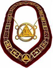 NEW Royal Arch Chain Collar Regalia  Masonic Jewel York Rite Officer DMR300GR 01