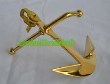 Solid Brass Shiny Brass Finish Nautical Ships Boat Anchor Paperweight Desk Decor