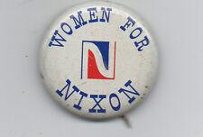 1960s Political Button Woman for Nixon