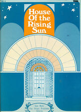 """"""" HOUSE OF THE RISING SUN """" P/V/C SHEET MUSIC PIECE ON SALE COLLECTORS ITEM"""