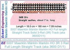 EE 5007 GD Good Marklin HO 3R 3 Rail Full Straight Track Pk10 3600D1/1 24-Tie