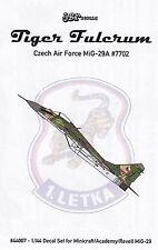 jbr44007/ JBr Decals - Tiger Fulcrum - Czech Air Force MiG-29A - 1/144 - TOPP