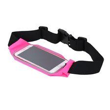 Waterproof Running Gym Jogging Waist Belt Hot Pink For Motorola Nexus 6/ LG Nexu