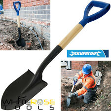 Silverline Mini Shovel Round Nose Micro Spade 700mm Snow Garden Car Gold Digging