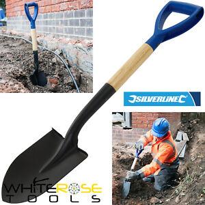 Silverline Mini Shovel Round Nose Micro Spade 700mm Snow Garden Car Gold Digging