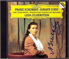 Lilya ZILBERSTEIN Signiert SCHUBERT Piano Sonata D.850 LISZT Dante Gretchen CD