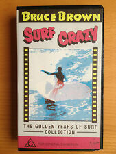 BRUCE BROWN ~ SURF CRAZY~THE GOLDEN YEARS OF SURF COLLECTION ~ RARE VHS VIDEO