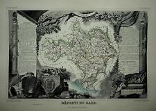 LEVASSEUR - DEPARTMENT DU GARD 1854.