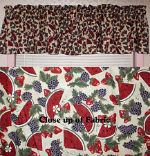 New Watermelon Grapes Strawberries Valances Curtains Window Cover Valance