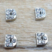 Free shipping crystal letter D Floating Charm for Glass Living Memory Locket PD1
