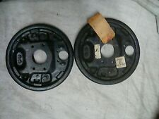 SIMCA 1100 BRAKE REAR BACKING PLATES PAIR OF O/E 0013580900 AND 0013581100