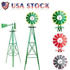 8Ft Windmill Ornamental Decorative Garden Weather Vane Yard Art Windmill