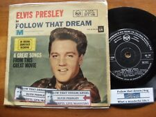 "ELVIS PRESLEY 4 TRACKS FOLLOW THAT DREAM / ANGEL SINGLE 45 rpm VINYL 7"" RECORD"