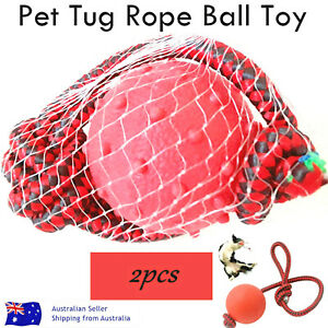 Pet Tug Rope Ball Toy 2 Pcs Quality Toys Durable Rope Tug Toy Dog Play