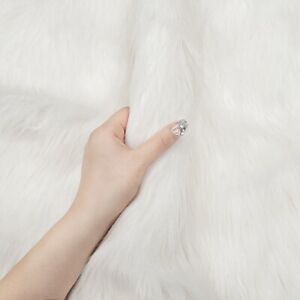 Long Hair Luxury Faux Fur Plush Fabric Cushion Beard DIY Costume Background Prop