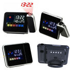 Weather Multi Function LCD Digital Projection Clock Alarm Color Screen Calendar