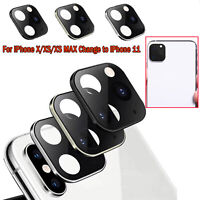Camera Lens Seconds Change Protector Cover for iPhone 11 Pro Max Metal Lens