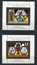 s5176) GUINEA EC. 1974 MNH** WC Football -CM Calcio S/S X2 GOLD WINNER ALEMANIA