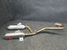 Honda CRF450 2015-2016 Used Akrapovic complete twin exhaust system CR3074