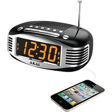 Akai Ce1500 Retro Style Am/fm Clock Radio With Pll Tuner