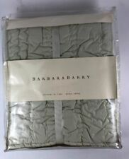 Barbara Barry Stitch In Time Euro Pillow Sham, Eucalyptus Green - Msrp $150 New