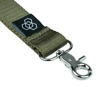 Carbon Collective Khaki Green Woven Lanyard Detailing Valeting Free Recorded P&P