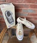 NEW Vintage Converse Chuck Taylor All Star White Low Top Sz 10.5 Made In USA Box