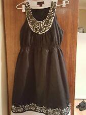 Cute URBAN little black dress with beaded neckline (size 12)