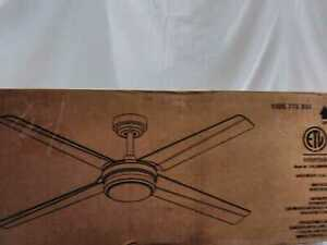"Altitute Laritza 56"" LED In/Outdoor Matte White Ceiling Fan + Remote +Light Kit"