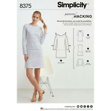 Simplicity Sewing Pattern 8375 Misses' Knit Dress or Top Design Hack Xxs-Xxl New