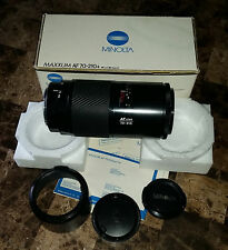 Minolta Maxxum AF70-210/4 Zoom Camera Lens w/Original Packaging