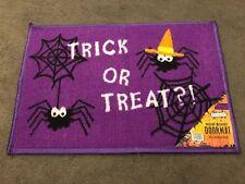 Halloween spider doormat children's trick treat purple 40 X 60 CM