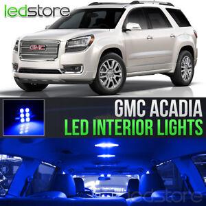 2007-2016 GMC Acadia Blue LED Lights Interior Kit
