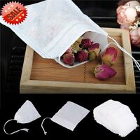100/200 pcs Empty Teabags String Heat Seal Filter Paper Herb Loose Tea Bags 1Z