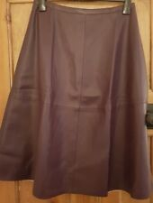 Womans faux leather A line Skirt size 14