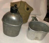 WWII 1944 British Made Canteen Cover US 1945 Cup Set