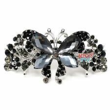 Butterfly Metal Rhinestones Crystal hair claws clips Barrette clamp bridal clip
