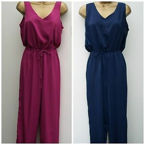 New BHS Ladies Sleeveles Jumpsuit Navy Blue and Cerise Pink Party Evening Wear