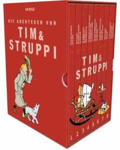 TIM & STRUPPI KOMPAKT SCHUBER / GESAMTAUSGABE # 1 - 8 KOMPLETT - CARLSEN - HERGÉ