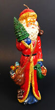 """Vintage Santa Claus Saint Nick 9"""" Wax Candle Unused"""