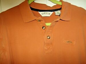 Standout Orvis Long Sleeve Fishing/Polo Shirt Size M/L
