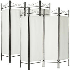 2x 4-panel room divider separator panel wall movable partition folding white