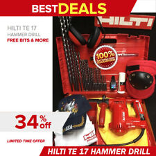 Hilti Te 17 Hammer Drill Great Condition Smart Watch Bits Extras Quick Ship